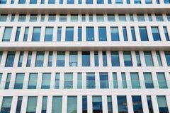 Modern facade of the building made of glass and concrete Royalty Free Stock Images