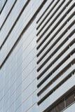 Modern facade of composite panels stock photography