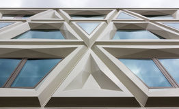 Modern facade consisting of triangles Royalty Free Stock Photo
