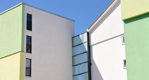 Modern facade – detail. Detail of the façade of a modern building - architecture stock images