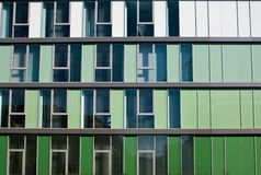 Modern facade in different shades of green Stock Image