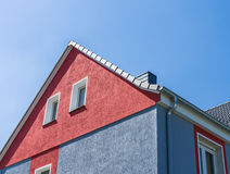 Modern facade in Germany. Modern Colorful facade in Germany and blue sky Stock Photography