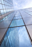 Modern facade of glass and steel Stock Images
