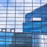 Modern facade of glass and steel. Royalty Free Stock Image