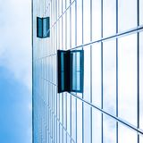 Modern facade of glass and steel. Stock Photos