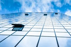 Modern facade of glass and steel. Stock Image
