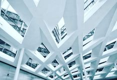 Modern facade. Of an office building in Budapest, Hungary Royalty Free Stock Photo