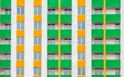 Modern facade. Facade of modern pre-fabricated concrete building Royalty Free Stock Images