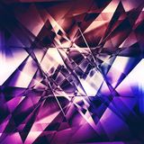 Modern facet background, abstract fractal background with triangle shapes. Purple premium background with luxury dark polygonal pattern and purple triangle vector illustration