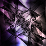 Modern facet background. Modern facet abstract background in black and purple tones stock images