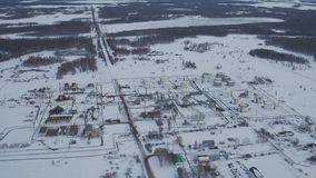 Aerial view oil tank farm is industrial facility for storage of oil products stock footage