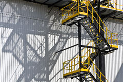 Modern factory. Modern power station and stairs construction Royalty Free Stock Photography