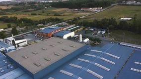 Modern factory aerial view stock video footage