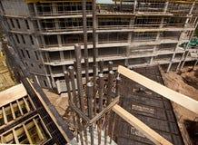 Modern factory construction site. Modern high-tech factory formwork construction site Royalty Free Stock Image