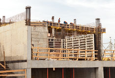 Modern factory construction site Stock Image