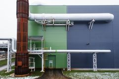 Modern factory with tubes Stock Images