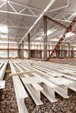 Modern factory workshop. Modern high-tech factory workshop construction Royalty Free Stock Images