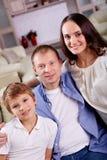 Modern familj Arkivbilder