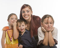 Modern family Royalty Free Stock Images