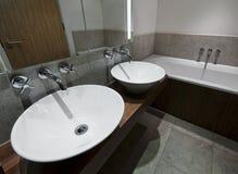 Modern family bathroom Stock Photos