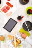 Modern family having breakfast Stock Photography