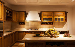 The kitchen 17. The modern family pay attention to design and decoration of the kitchen Stock Image
