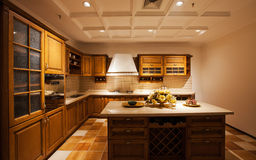 The kitchen 18. The modern family pay attention to design and decoration of the kitchen Royalty Free Stock Photos