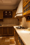 The kitchen 19. The modern family pay attention to design and decoration of the kitchen Royalty Free Stock Image