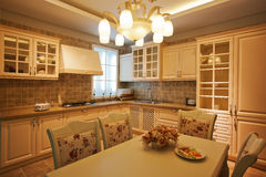 The kitchen 20. The modern family pay attention to design and decoration of the kitchen Stock Photo