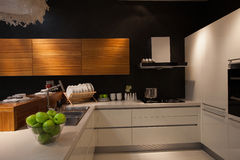 The kitchen 28. The modern family pay attention to design and decoration of the kitchen Royalty Free Stock Photo
