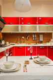 The kitchen 29. The modern family pay attention to design and decoration of the kitchen Royalty Free Stock Photography