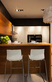 The kitchen 32. The modern family pay attention to design and decoration of the kitchen Royalty Free Stock Image