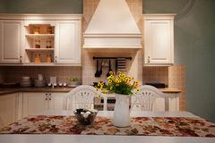 The kitchen 43. The modern family pay attention to design and decoration of the kitchen Stock Photos