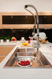 The kitchen 42. The modern family pay attention to design and decoration of the kitchen Stock Image