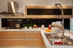 The kitchen 40. The modern family pay attention to design and decoration of the kitchen Royalty Free Stock Image