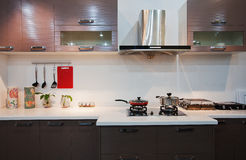 The kitchen 38. The modern family pay attention to design and decoration of the kitchen Royalty Free Stock Photo