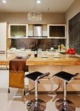 The kitchen 45. The modern family pay attention to design and decoration of the kitchen Stock Images
