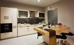 The kitchen 46. The modern family pay attention to design and decoration of the kitchen Stock Images