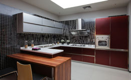 The kitchen 49. The modern family pay attention to design and decoration of the kitchen Royalty Free Stock Image