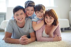 Modern family Stock Photography