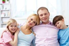 Modern family Stock Photo