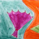 Modern fan seamless  watercolor artist wallpaper texture of hand Stock Photography