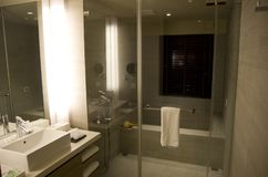 Free Modern Fancy Hotel Room Bathroom Royalty Free Stock Image - 103109466