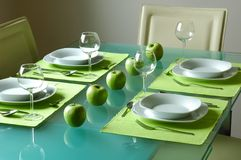 Modern fancy table setting Royalty Free Stock Image
