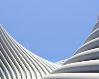 Modern fantastic architectural wallpaper Stock Image