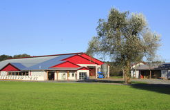 Modern Farm Buildings with Metal Roof Royalty Free Stock Photo