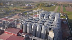 Modern farm silo. stock footage