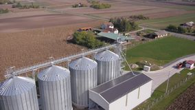 Modern farm silo. stock video footage