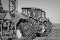 Modern Farm Tractors Royalty Free Stock Photos