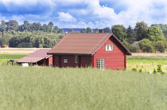 Modern farmland house Royalty Free Stock Image